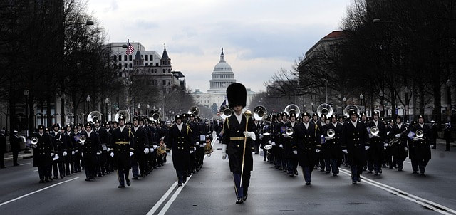Military band on the march