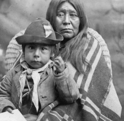 Indian squaw pleading to her chief