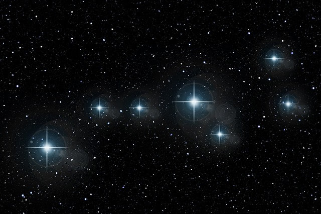The constellations in the sky
