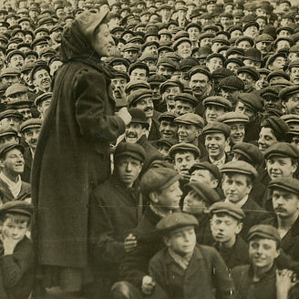 A woman suffragist haranguing